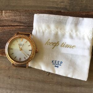 Keep Collective Pave round time key-rose gold
